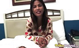 Dark-skinned 22 yr old Filipina meets old flame in Angeles City