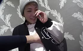 Blonde Japanese tomboy wants to experience sex on camera