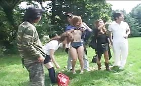 Japanese girls outdoor sex