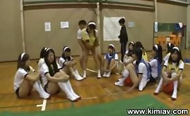 Frozen Japanese Gym Girls Timestop