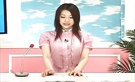 Japanese newsgirl sexually attacked on live TV but she keeps her composure