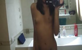 Asian self shot young teen Chinese girl
